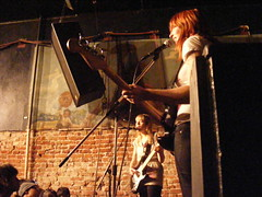 Vivian Girls on stage at The Smell