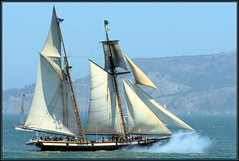 The Lynx (Michel Mintaka) Tags: wood water boat wooden bravo sailing ship vessel historic cannon bayarea sail sanfranciscobay mast tallship naval schooner lynx rigging privateer blueribbonwinner supershot bej mywinners abigfave platinumphoto citrit ysplix sfbaywoodenboats rubyphotographer
