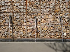 Rusted Gabion Wall (Badec Bros Deco) Tags: b outdoor planters landscaping mosaic contemporary steel indoor powder pots benches decor deco bros coated gabions pergolas a badec cubedec cubench