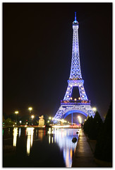 The Eiffel tower at midnight (heokieng) Tags: paris france tower night tour eiffeltower eiffel toureiffel parisbynight