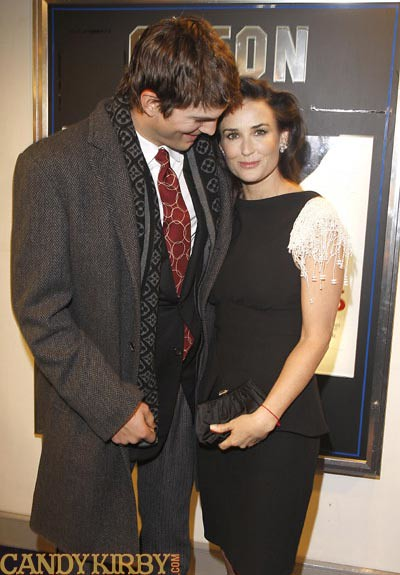 Ashton Kutcher and Demi Moore at the London Premiere of