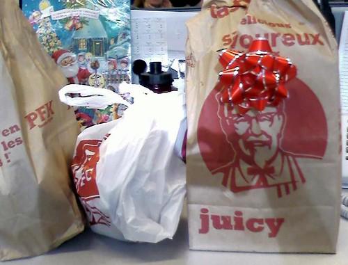 KFC birthday lunch