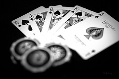 Royal Flush (DufferLong) Tags: jack cards long king ace royal chips queen poker ten chip flush spade pokerchips duffer royalflush canoneos40d canon40d dufferlong canonef35mmf14lusmcanon v40d