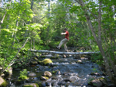 Sam balancing Isle Royale (Rock Harbor Lodge, Michigan, United States) Photo
