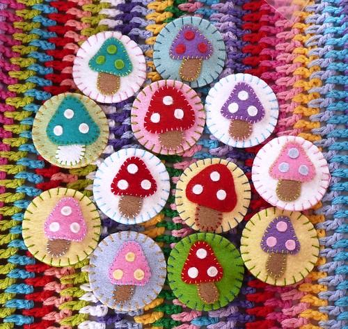 Mushroom Hairclips