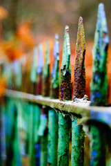 Rusty gate (SurfaceSpotting) Tags: old uk blue color colour green colors 50mm nikon rust ruins gate colours dof bokeh gates peakdistrict sheffield yorkshire rusty depthoffield f18 rivelin southyorkshire d40 michaelides bokehlicious creamybokeh d40x rivelindams surfacespotting georgemichaelides
