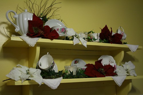 Christmas tea shelf