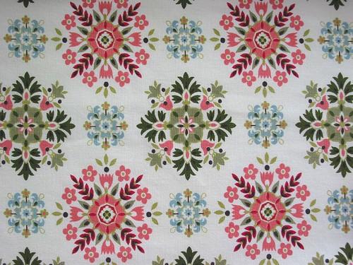 Vintage Fabric ~ 1950's Geometric Snowflakes