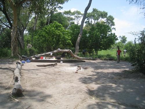 Campsite in delta