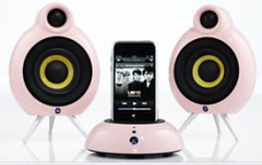 Pink iPod dock by momentimedia