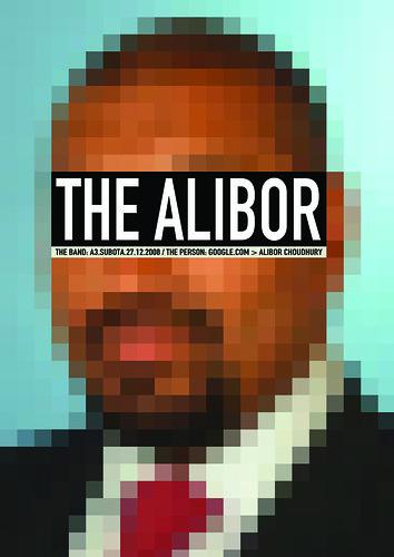 TheAlibor concert poster