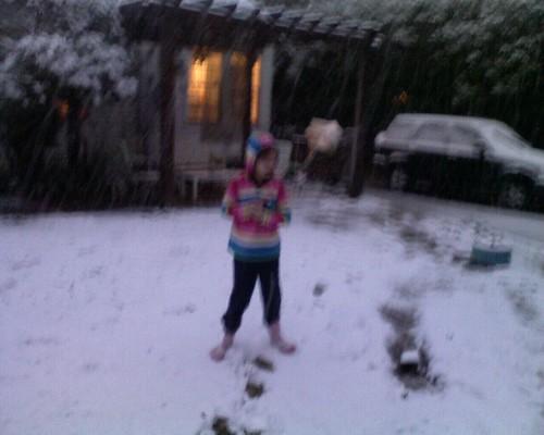 maya in the backyard
