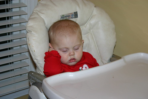 Asleep in the highchair