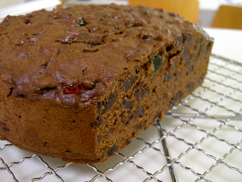 First fruit cake out of the oven