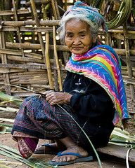 Beauty in Age (Anne Clements) Tags: woman beautiful book village womenonly elderly oriental laos eastern blurb artcafe anneclements muangla