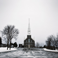 (uwajedi) Tags: winter sky snow ontario canada tree ice church statue square ottawa overcast driveway sarsfield