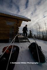 IMG_8800 copy (Nathaniel Wilder) Tags: winter snow ski mountains cabin aurora owl spruce fairbanks northernlights dogteam frozenlake skitour interioralaska wolftracks whitemts xcountryski