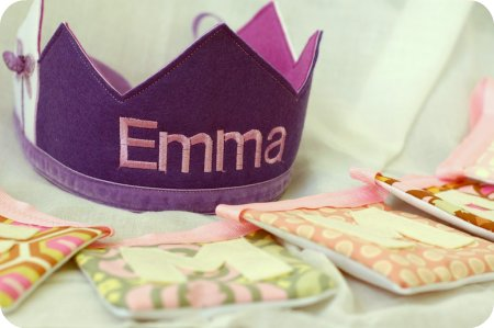 Emma's crown and bunting