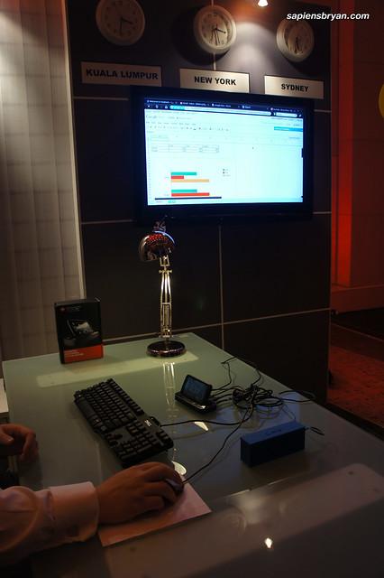 Motorola Atrix connected to HDMI compatible LCD display via HD Multimedia Dock.