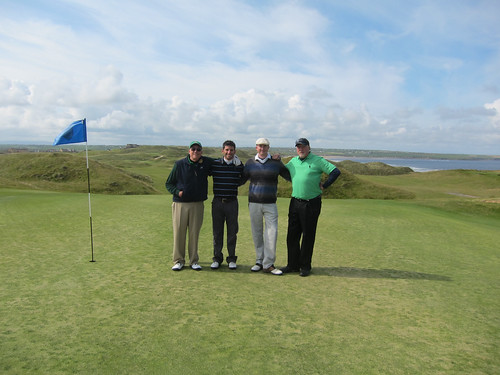Four Golfers at Ballybunion Old