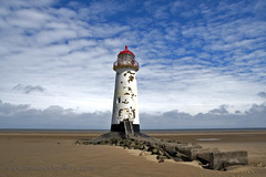 TALACRE LIGHTHOUSE, PRESTATYN, NORTH WALES. (IMAGES OF WALES.... (TIMWOOD)) Tags: wood sea lighthouse beach wales clouds reflections coast tim sand rocks gallery sony north cymru cliffs welsh alpha groynes a700 mygearandme