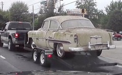 Going Home (Dave* Seven One) Tags: rot history chevrolet abandoned belair nature neglect vintage rust time decay country rusty dirt chevy chrome forgotten 1950s grime filth past dents fallingapart