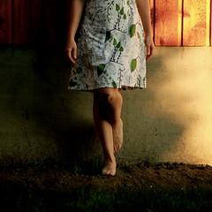 feet planted? (sonyacita) Tags: self square dress dirt barefeet bsquare