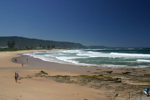 Pacific Ocean beach north of Wollongong, NSW.