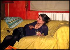 Tra i colori (: panti :) Tags: giallo rosso divano picnik