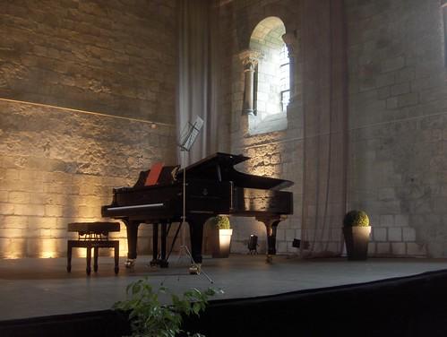 Printemps musical de Touraine, Prieuré Saint-Cosme, 16 mars 2008 : Avant le concert de Nikola Nikolov & Camille Schnoor