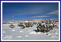 Torrey Cliffs in Snow (Bob Palin) Tags: winter 15fav usa snow cold water landscape march utah 2008 torrey winterbeauty weatherphotography vogonpoetry orig:file=2008031710337 nopin