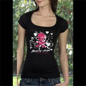 Raging Angel Pink Skull