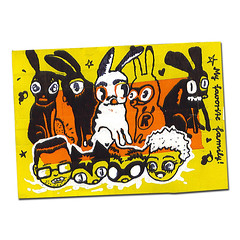 "The ""Hasenpfeffer Inc."" Team (Hasenpfeffer Incorporated) Tags: chris cats bunny bunnies cat george jellyfish thankyou postcard andre hazel shelton daniela rocket marzipan etsy hasenpfeffer rescuers gabrielamasciadri"