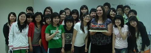 Happy Bday from my TOEFL class