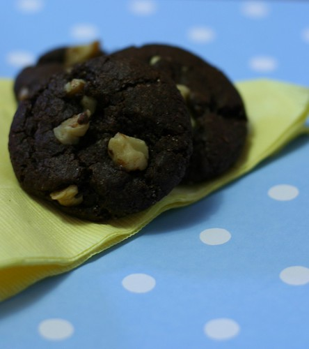 Chocolate-Chocolate Chip Walnut Cookies