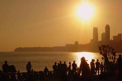 Sun going down on maximum city