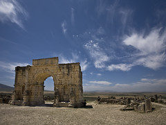 Triumphal Arch in Volubilis (johnmontague) Tags: day morocco triumphalarch volubilis moulayidriss pwpartlycloudy