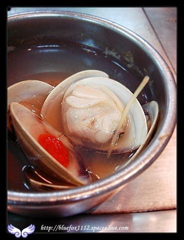 080120淡水名廚鐵板燒14_枸杞蛤蠣盅