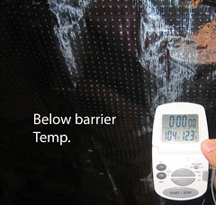 Temp below barrier
