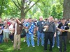 Lining up for the group photo at Midwest Banjo Camp 2008