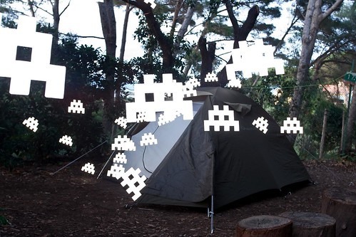 attack of the space invaders - at the camp site #3