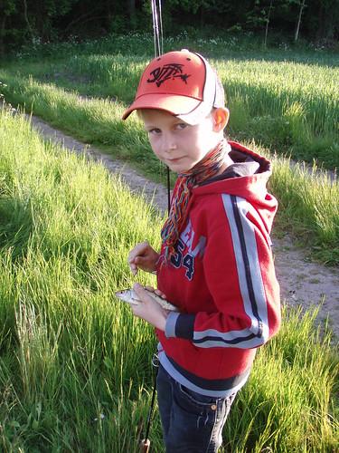 Nikolaj på fisketur