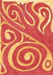 120608 (Qavit) Tags: red yellow pencil 2008 bleistift copic dailyartcard