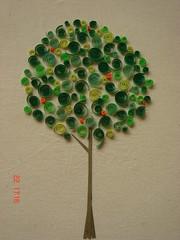 Arbol de la vida en quilling.- (Maluciana26) Tags: verde art argentina paper arbol living casa buenosaires artesanal colores recuerdo taller vida pape