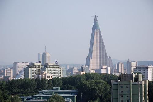Ryugyong Hotel. Pyongyang, North Korea.