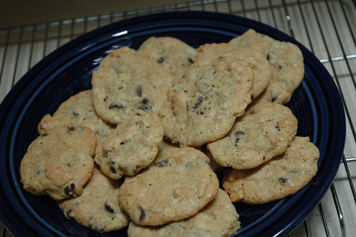 Chocolate & Banana Chip Cookies