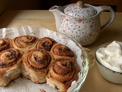 Cinnamon Swirls (PatchworkPottery) Tags: bread baking artisan artisanbreadin5minutes