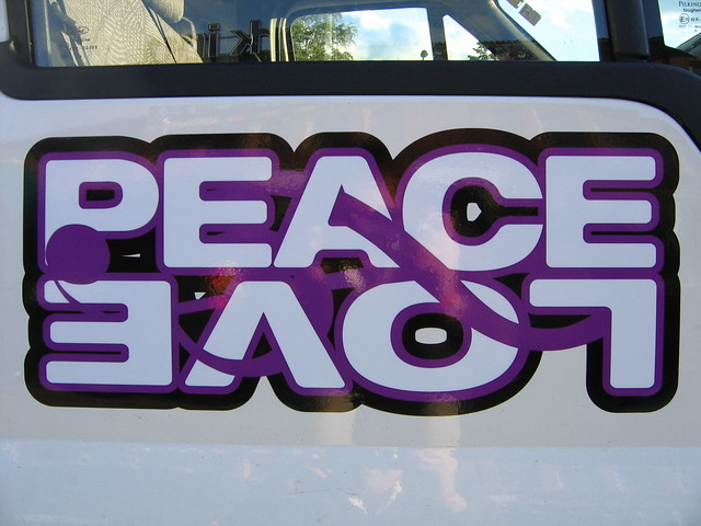 peace and love logo
