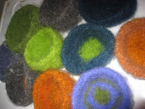 Felted Bowls: Not for soup