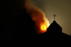 2008_07_03_gapfire_27 (dsearls) Tags: sunset santabarbara fire mission wildfire missionsantabarbara anthropocene gapfire 20080703